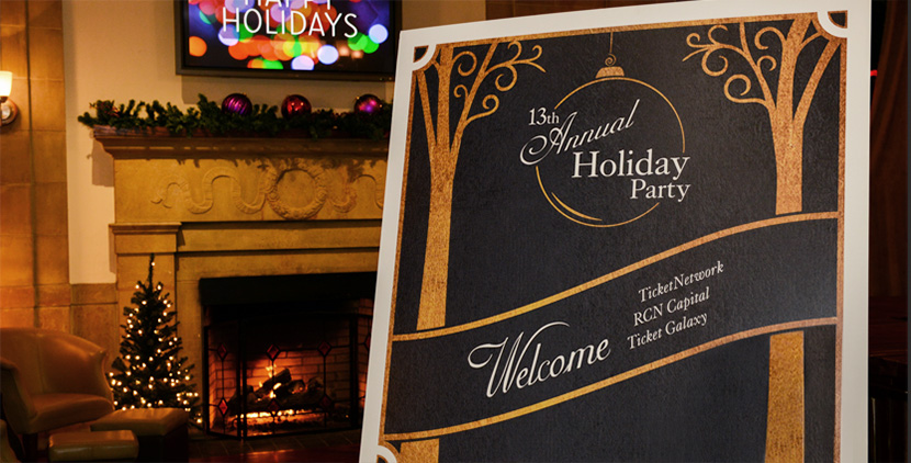 TicketNetwork Holiday Party Welcome Sign